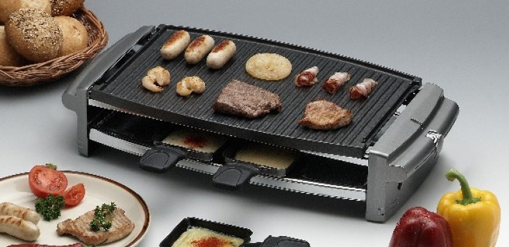Rotel Raclette Party Grill mit Alu Platte 8 Portionen ichvk