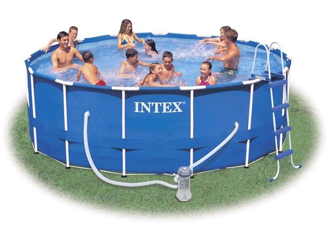 intex metal frame pool set 457 x 91 cm rund 56942 ichvk. Black Bedroom Furniture Sets. Home Design Ideas